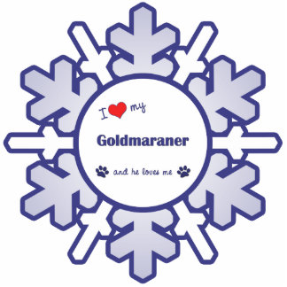 I Love My Goldmaraner (Male Dog) Cutout