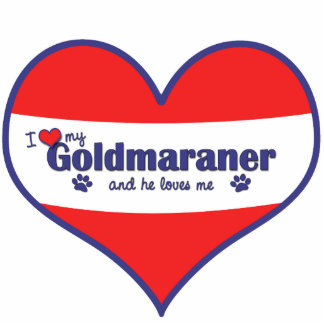 I Love My Goldmaraner (Male Dog) Statuette
