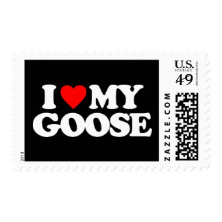 I LOVE MY GOOSE POSTAGE STAMPS