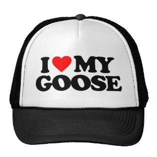 I LOVE MY GOOSE TRUCKER HAT