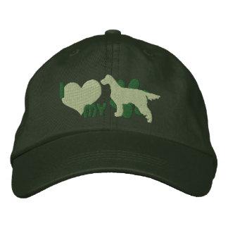 I Love my Gordon Setter Embroidered Hat (Green)