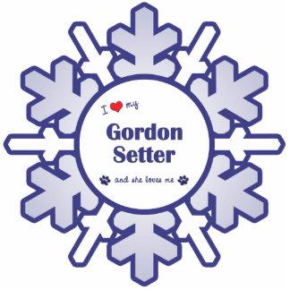 I Love My Gordon Setter (Female Dog) Cutout
