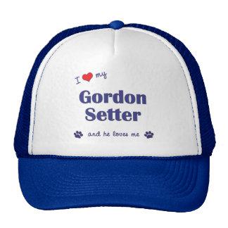 I Love My Gordon Setter (Male Dog) Trucker Hat