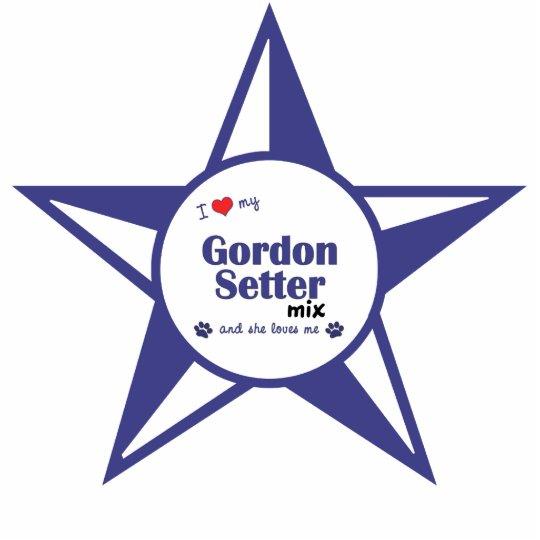 I Love My Gordon Setter Mix (Female Dog) Cutout