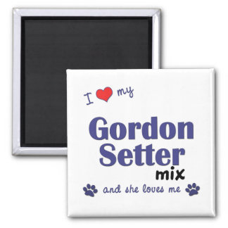 I Love My Gordon Setter Mix (Female Dog) Magnet