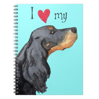 I Love my Gordon Setter Spiral Notebook