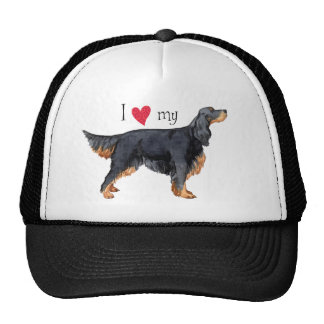 I Love my Gordon Setter Trucker Hat