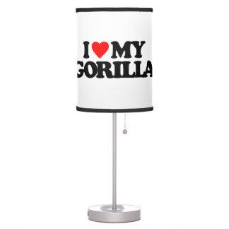 I LOVE MY GORILLA DESK LAMP