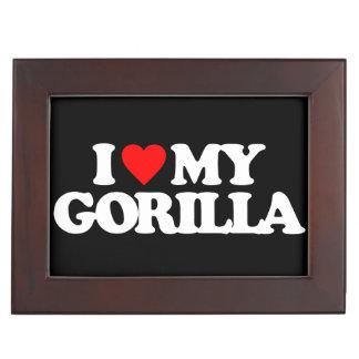 I LOVE MY GORILLA MEMORY BOX