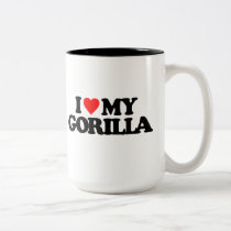 I LOVE MY GORILLA Two-Tone COFFEE MUG