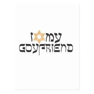I love my goyfriend postcard