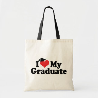 I Love My Graduate Budget Tote Bag