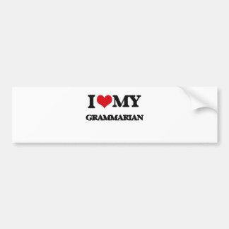 I love my Grammarian Car Bumper Sticker