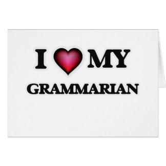 I love my Grammarian Card