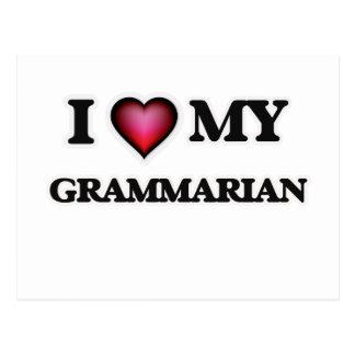 I love my Grammarian Postcard