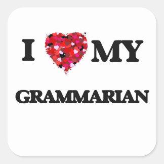 I love my Grammarian Square Sticker