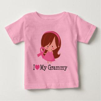 I Love My Grammy Breast Cancer Ribbon Baby T-Shirt