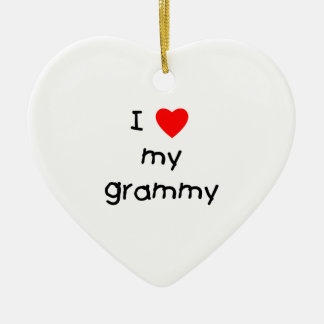 I Love My Grammy Ceramic Ornament