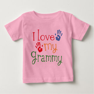 I Love My Grammy Handprints Baby T-Shirt