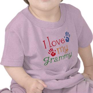 I Love My Grammy Handprints T Shirts