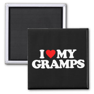 I LOVE MY GRAMPS 2 INCH SQUARE MAGNET