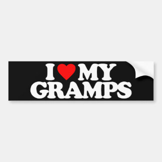 I LOVE MY GRAMPS BUMPER STICKERS