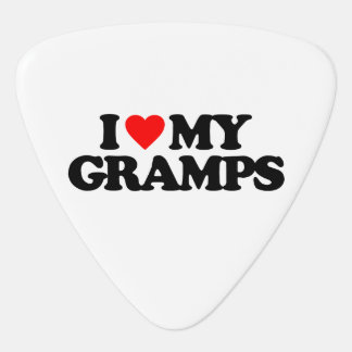 I LOVE MY GRAMPS GUITAR PICK