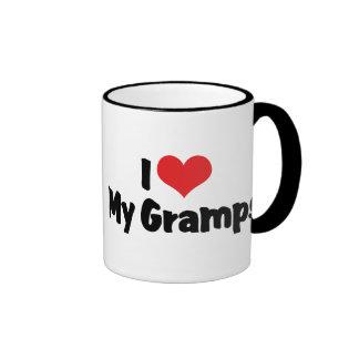 I Love My Gramps Ringer Coffee Mug