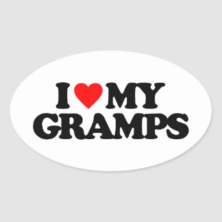 I LOVE MY GRAMPS OVAL STICKER