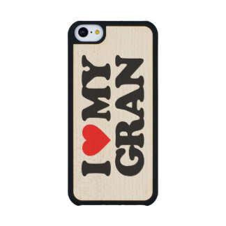 I LOVE MY GRAN CARVED® MAPLE iPhone 5C CASE