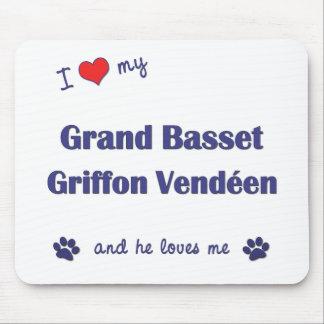I Love My Grand Basset Griffon Vendeen (Male Dog) Mouse Pad