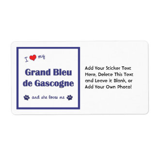 I Love My Grand Bleu de Gascogne (Female Dog) Label