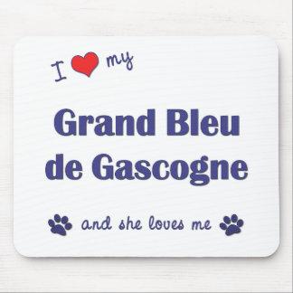 I Love My Grand Bleu de Gascogne (Female Dog) Mouse Pad