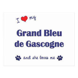 I Love My Grand Bleu de Gascogne (Female Dog) Postcard