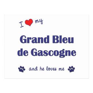 I Love My Grand Bleu de Gascogne (Male Dog) Postcard
