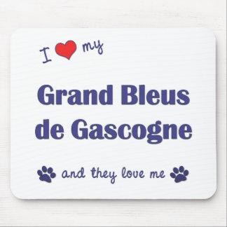 I Love My Grand Bleus de Gascogne (Multiple Dogs) Mouse Pad