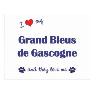 I Love My Grand Bleus de Gascogne (Multiple Dogs) Postcard