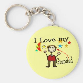 I Love My Grand Dad Keychain