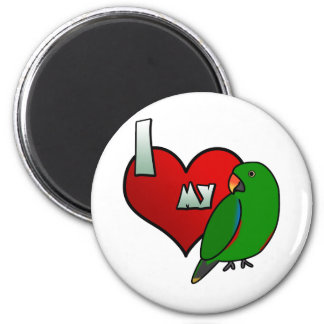 I Love my Grand Eclectus 2 Inch Round Magnet