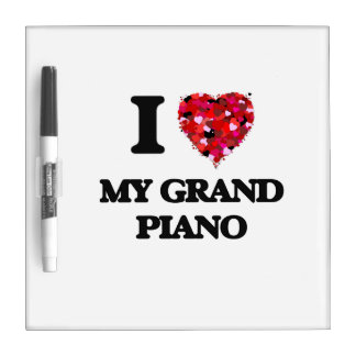 I Love My Grand Piano Dry Erase Whiteboards