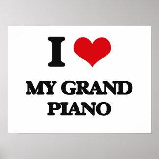 I Love My Grand Piano Print