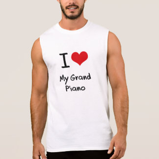 I Love My Grand Piano Sleeveless Tee