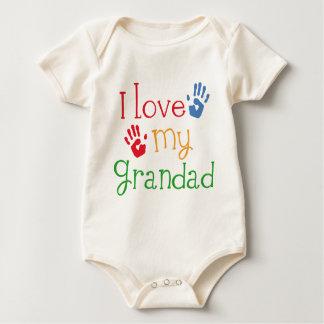 I Love My Grandad (Handprints) Baby Bodysuit