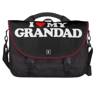 I LOVE MY GRANDAD LAPTOP BAGS