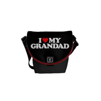 I LOVE MY GRANDAD MESSENGER BAGS