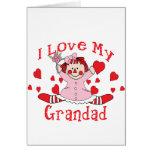 I love My Grandad Rag Doll & Hearts Cards