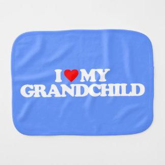 I LOVE MY GRANDCHILD BABY BURP CLOTH