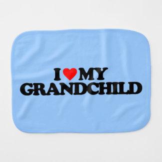 I LOVE MY GRANDCHILD BURP CLOTH