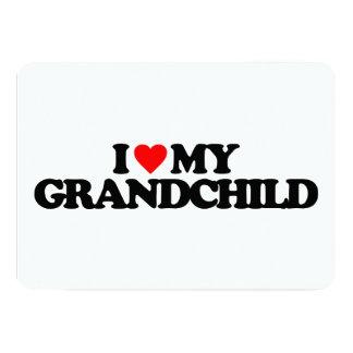 I LOVE MY GRANDCHILD 5X7 PAPER INVITATION CARD