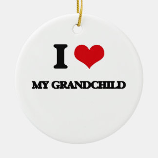 I Love My Grandchild Christmas Tree Ornament